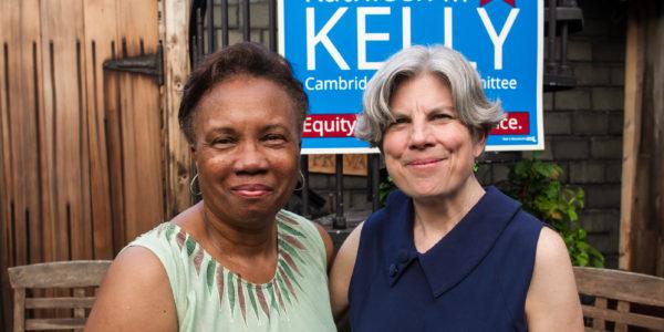Mayor Simmons and Kathleen Kelly at 2017 Kickoff